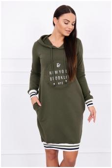Chaki spalvos suknelė MOD097