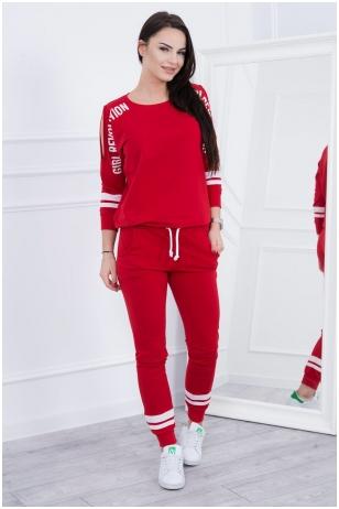 Raudonas sportinis kostiumas MOD096