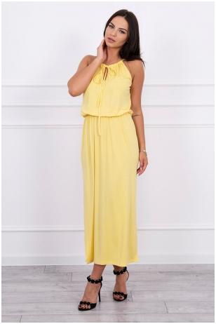 Geltona ilga suknelė MOD024