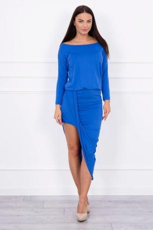 Rugiagėlių spalvos suknelė MOD013