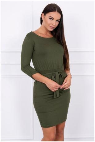 Chaki spalvos suknelė MOD325