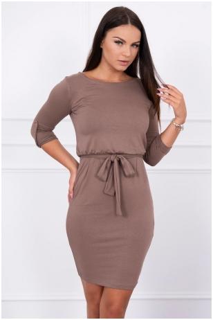 Kapučino spalvos suknelė MOD325