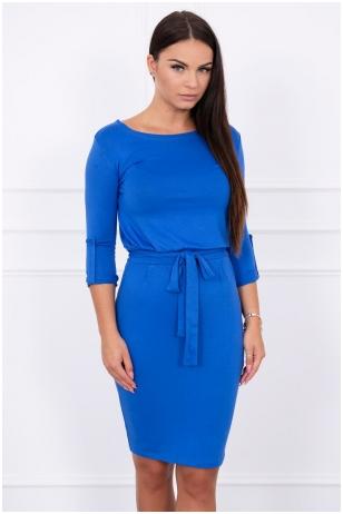 Rugiagėlių spalvos suknelė MOD325