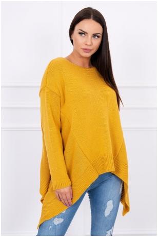 Garstyčių spalvos megztinis MOD002