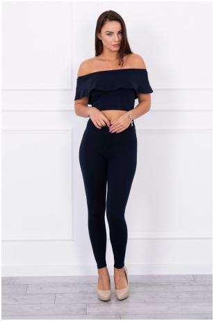 Tamsiai mėlynas moteriškas kostiumėlis MOD015