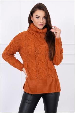 Rudas megztinis MOD044