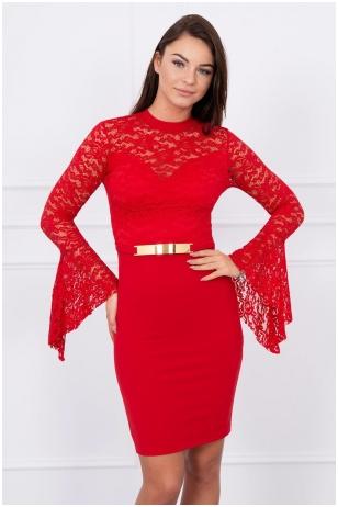 Raudona suknelė MOD063