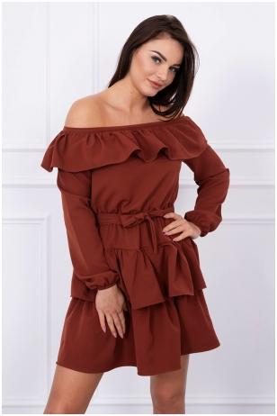 Ruda suknelė MOD067