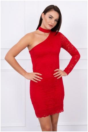 Raudona suknelė MOD047
