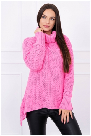 Rožinis megztinis MOD077
