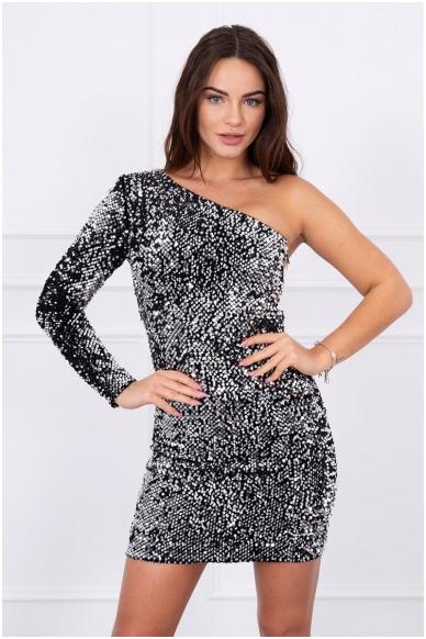 Sidabrinė suknelė MOD043