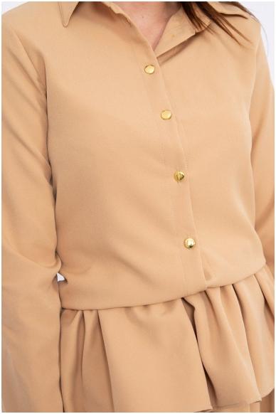 Garstyčių spalvos suknelė MOD062 4