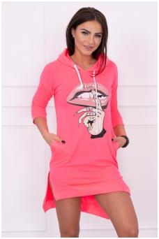 Rožinė neoninė suknelė MOD188