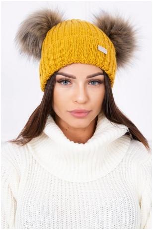Garstyčių spalvos kepurė K120