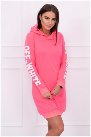 Neoninė rožinė suknelė MOD025