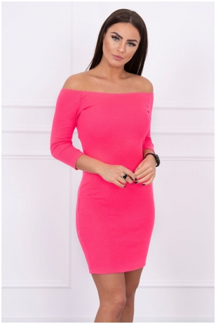 Neoninė rožinė suknelė MOD209