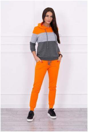 Oranžinis sportinis kostiumas MOD216