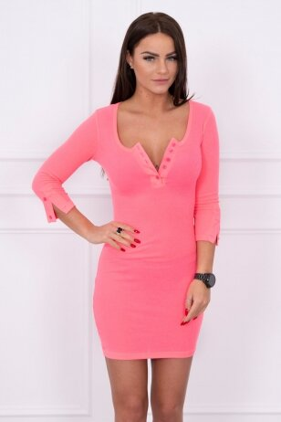Neoninė rožinė suknelė MOD217