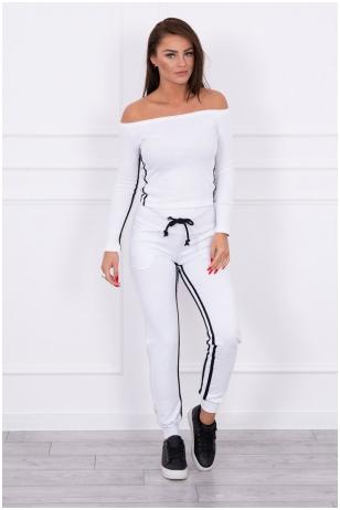 Baltas sportinis kostiumas MOD165