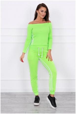 Žalios neoninės spalvos sportinis kostiumas MOD165