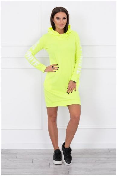 Neoninė geltona suknelė MOD025 3