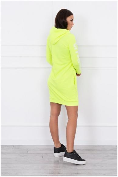 Neoninė geltona suknelė MOD025 2