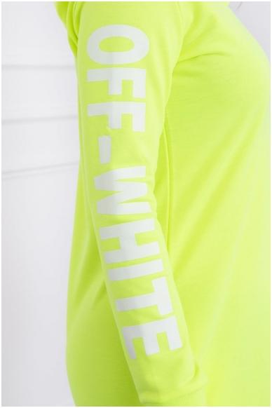 Neoninė geltona suknelė MOD025 4