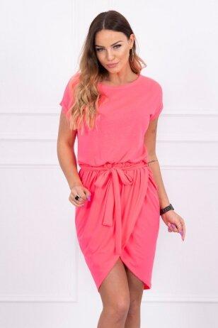 Neoninė rožinė suknelė MOD263