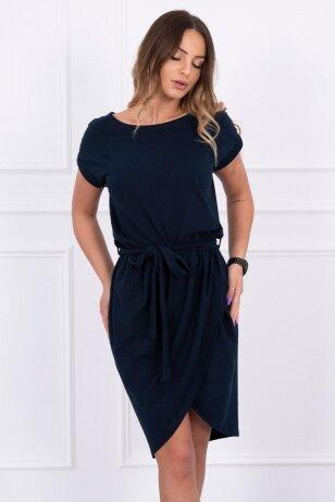 Tamsiai mėlyna suknelė MOD263