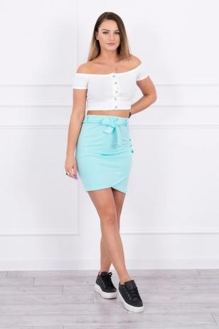 Mėtinės spalvos sijonas MOD268