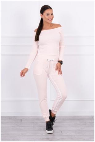 Šviesiai rožinis sportinis kostiumas MOD165