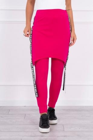 Rožinės spalvos kelnės - kombinezonas MOD286