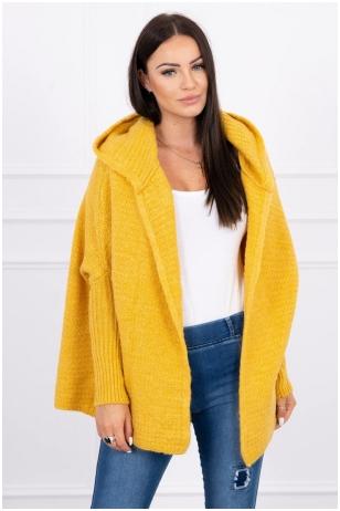 Garstyčių spalvos megztinis kardiganas MOD378