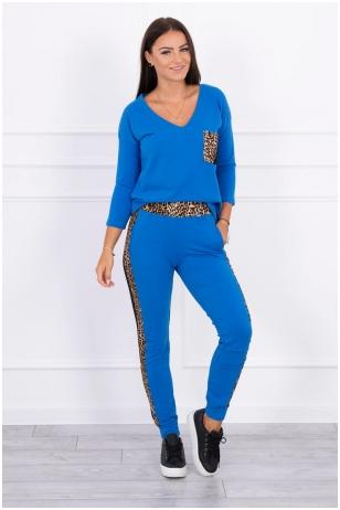 Rugiagėlių spalvos moteriškas kostiumėlis MOD468
