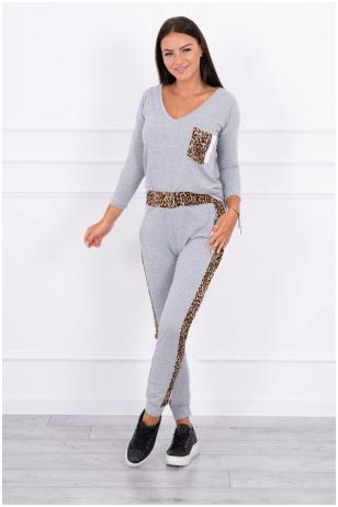 Pilkas moteriškas kostiumėlis MOD468