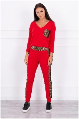 Raudonas moteriškas kostiumėlis MOD468