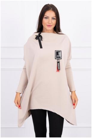 Smėlinės spalvos marškinėliai MOD450