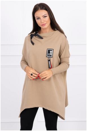 Šviesiai rudos spalvos marškinėliai MOD450