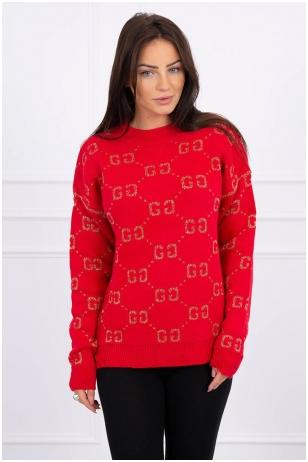 Raudonas megztinis MOD465