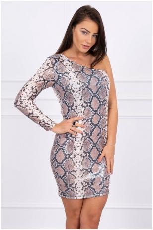 Smėlinės spalvos suknelė MOD466