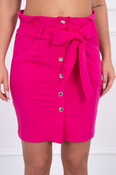 Rožinės spalvos sijonas MOD275 3