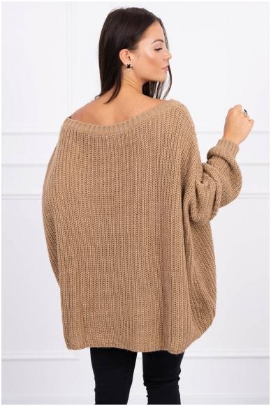 Šviesiai rudas megztinis MOD442 2