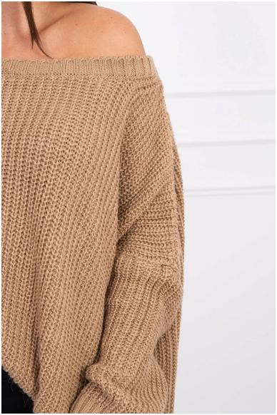 Šviesiai rudas megztinis MOD442 3