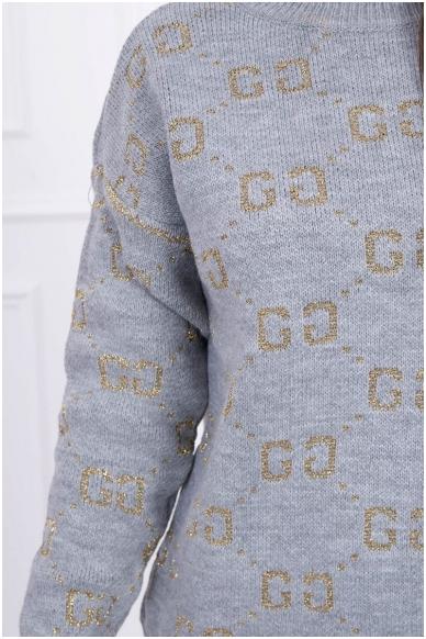 Pilkas megztinis MOD465 3