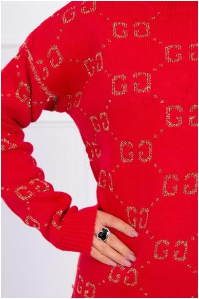 Raudonas megztinis MOD465 3
