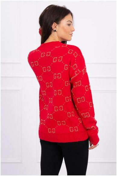 Raudonas megztinis MOD465 2