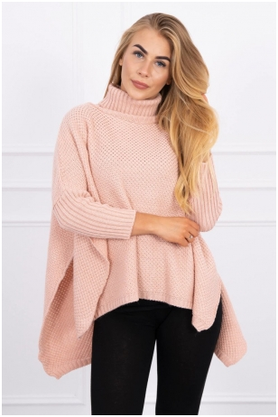 Nude spalvos megztinis MOD467