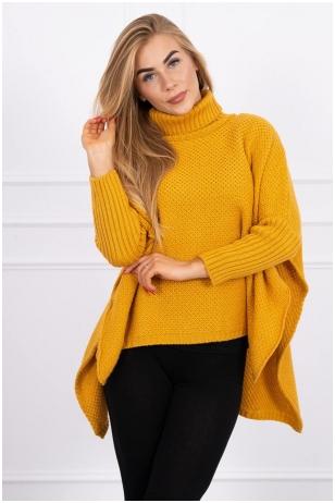 Garstyčių spalvos megztinis MOD467