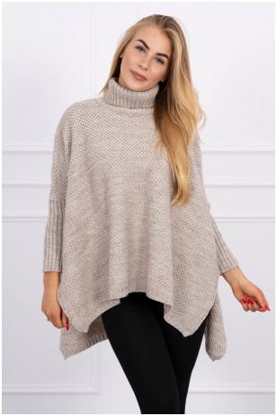 Smėlinės spalvos megztinis MOD467