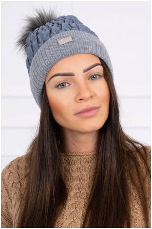 Grafito spalvos žieminė kepurė K160